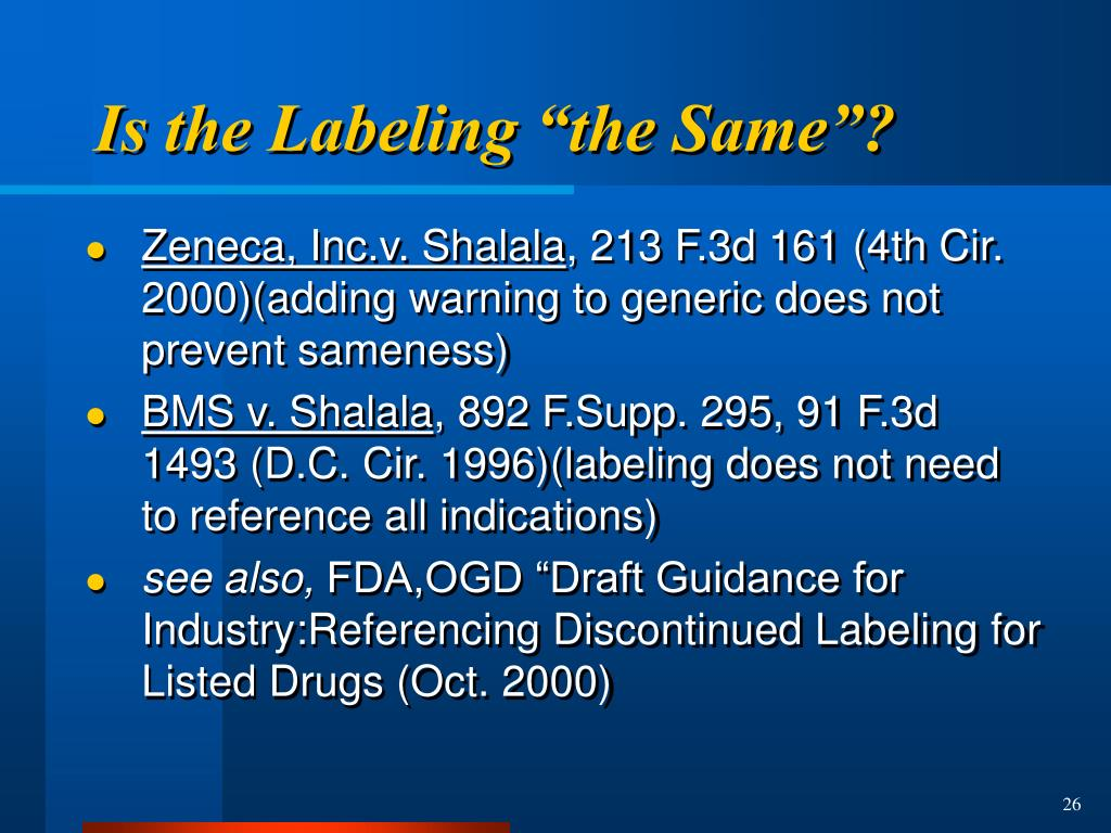 "Is the Labeling ""the Same""?"