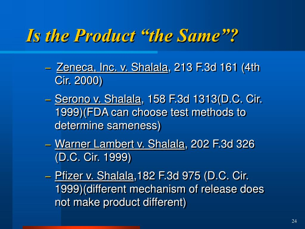 "Is the Product ""the Same""?"