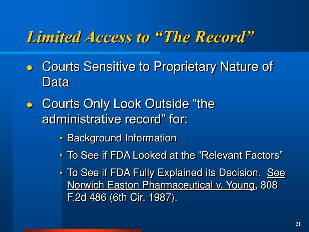 """Limited Access to """"The Record"""""""