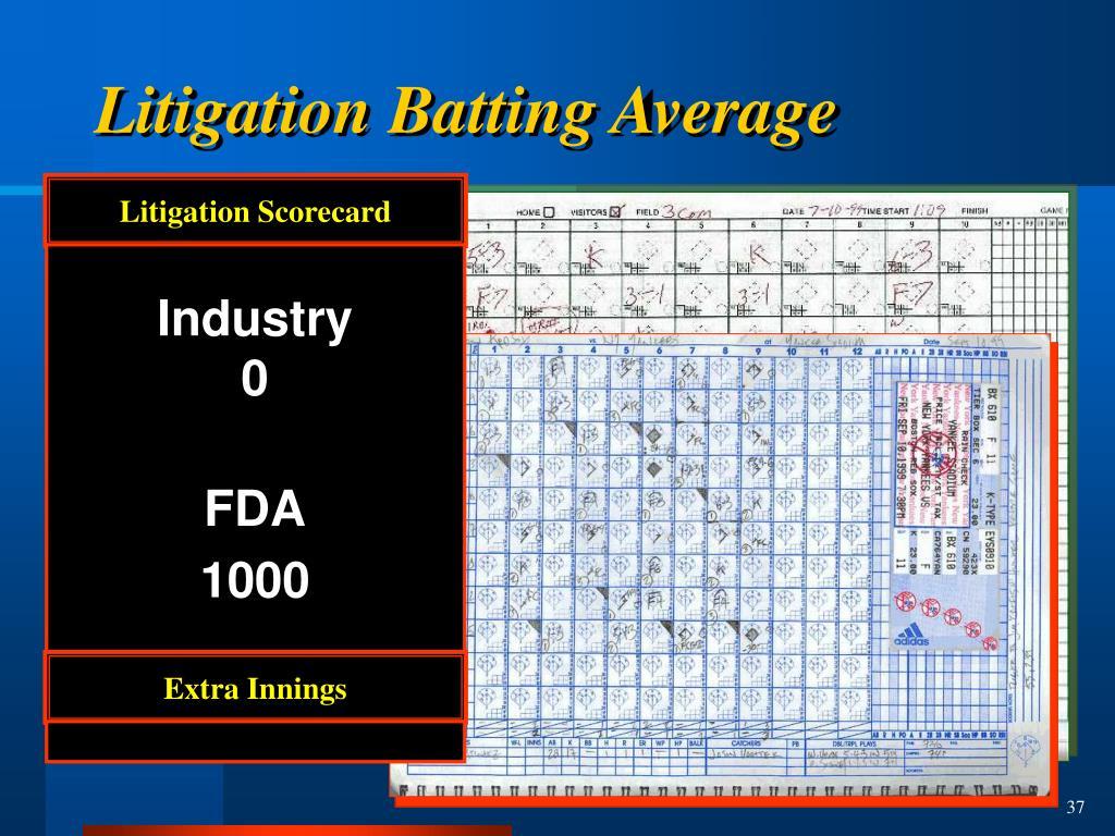 Litigation Scorecard