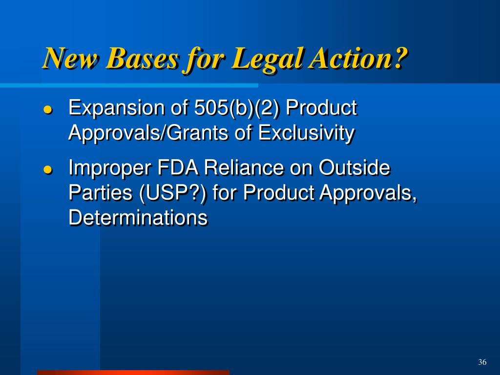 New Bases for Legal Action?