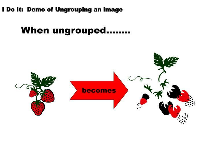 I Do It:  Demo of Ungrouping an image