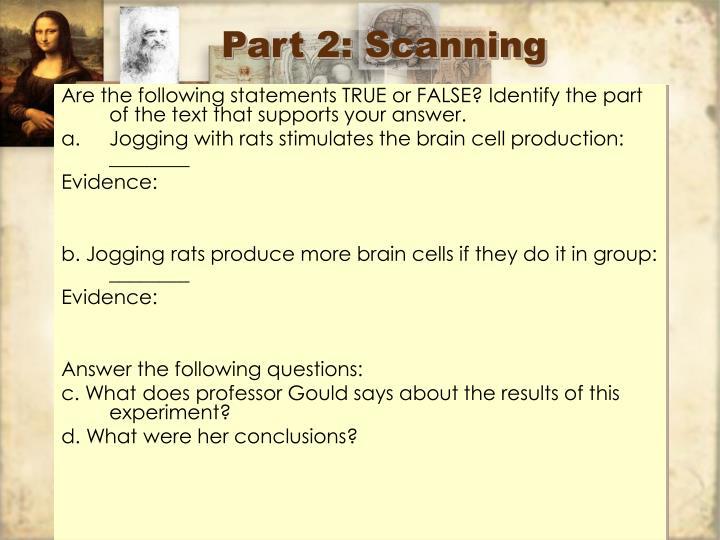 Part 2: Scanning