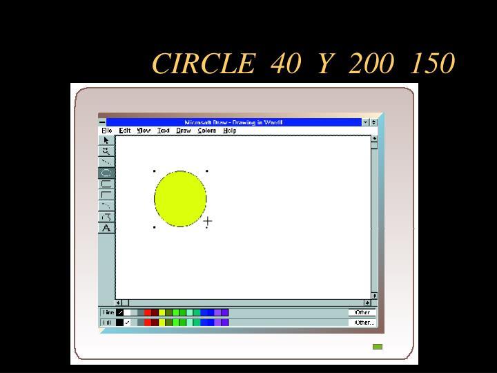 CIRCLE  40  Y  200  150