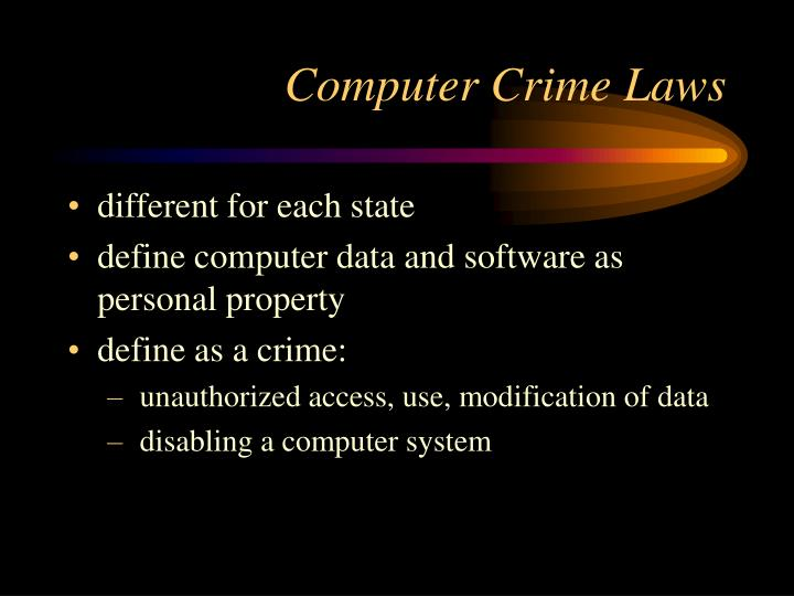 Computer Crime Laws