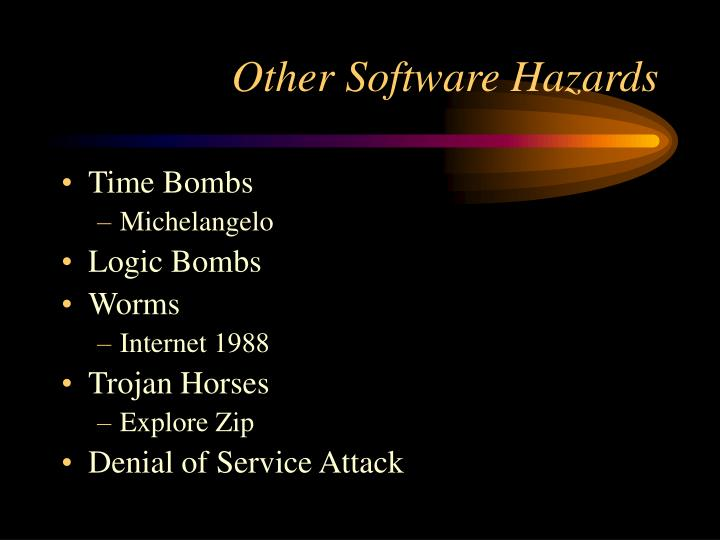 Other Software Hazards