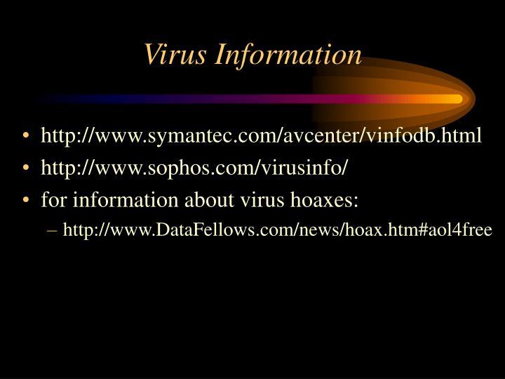 Virus Information