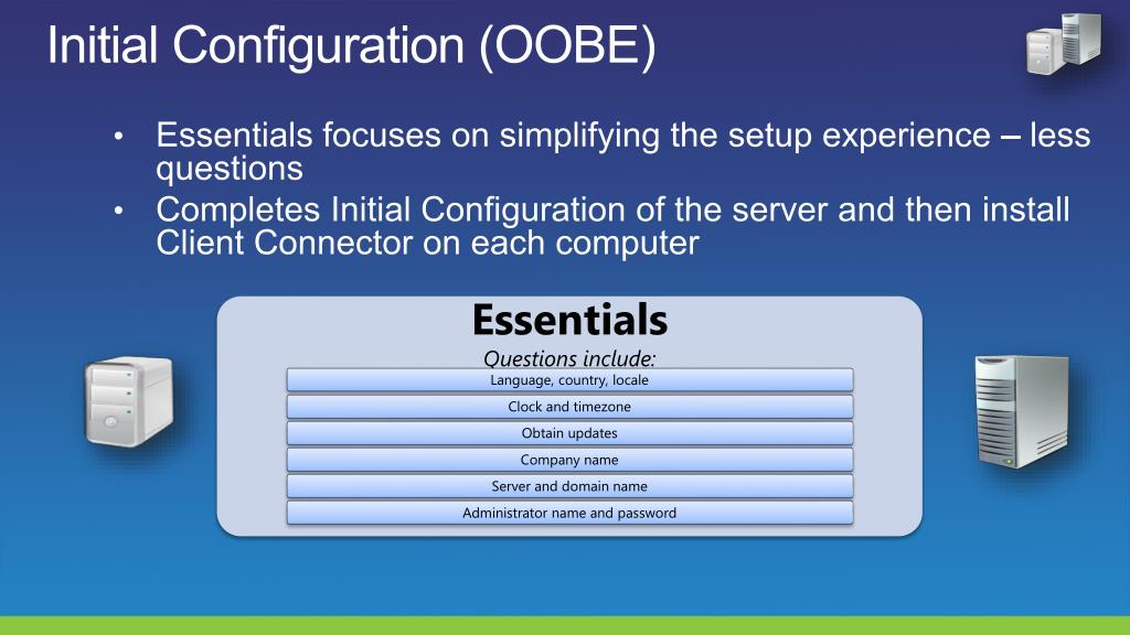 Initial Configuration (OOBE)