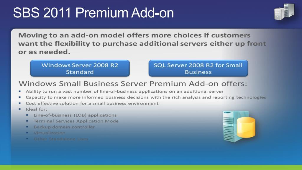 SBS 2011 Premium Add-on