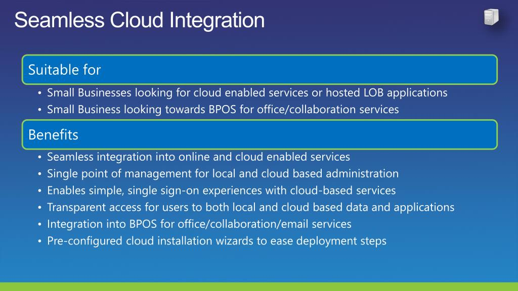Seamless Cloud Integration