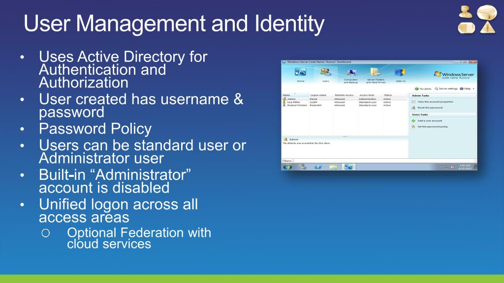 User Management and Identity