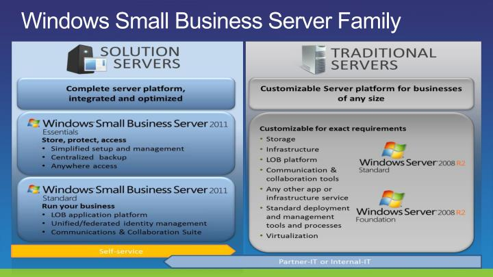 Windows small business server family