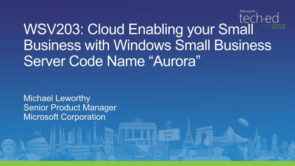 WSV203: Cloud