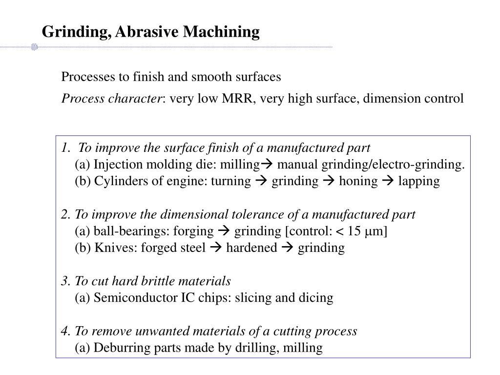 Grinding, Abrasive Machining