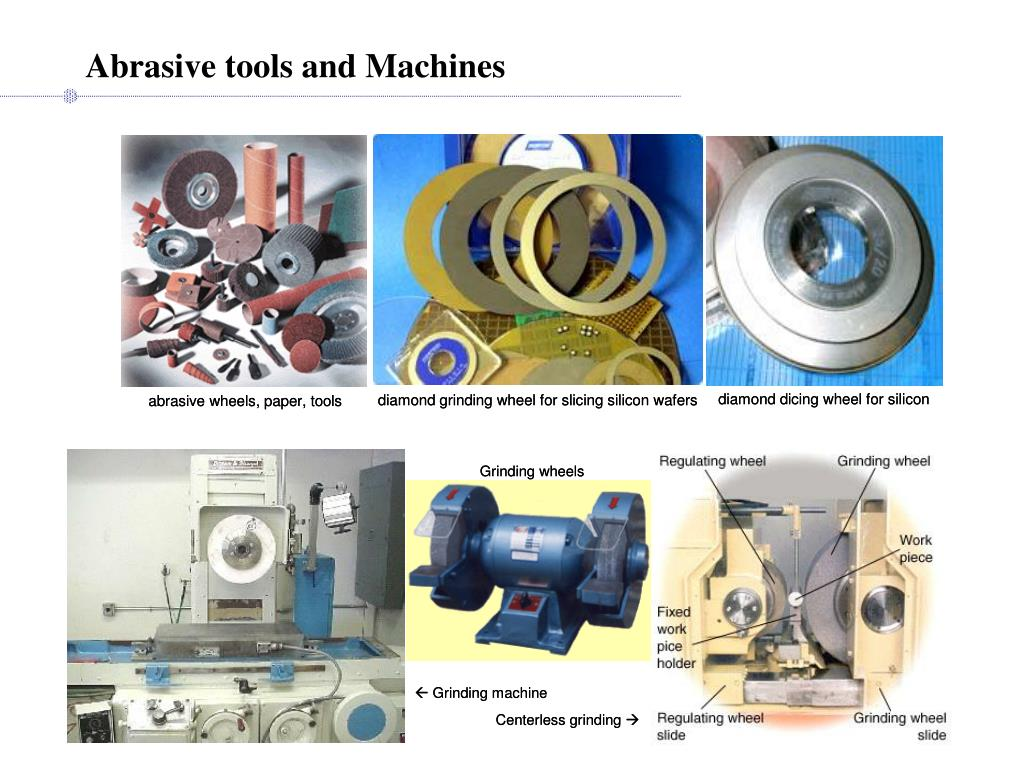 Abrasive tools and Machines