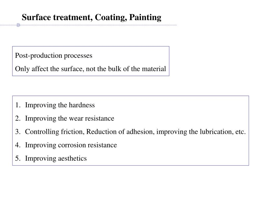 Surface treatment, Coating, Painting
