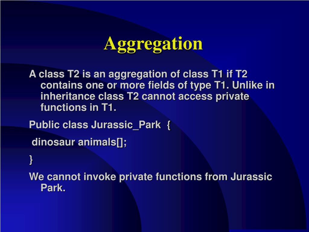 Aggregation