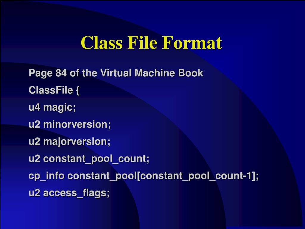 Class File Format