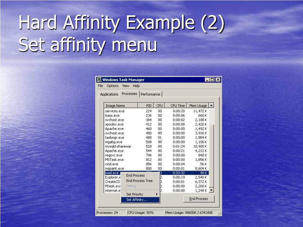 Hard Affinity Example (2)