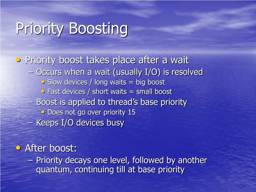 Priority Boosting