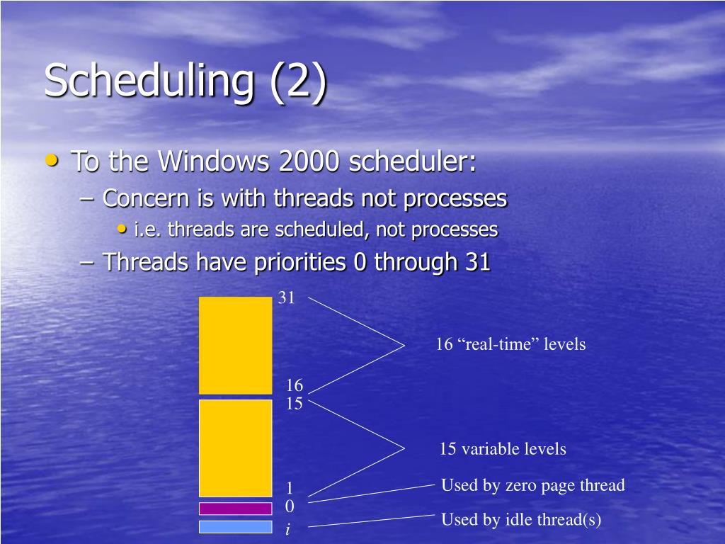 Scheduling (2)