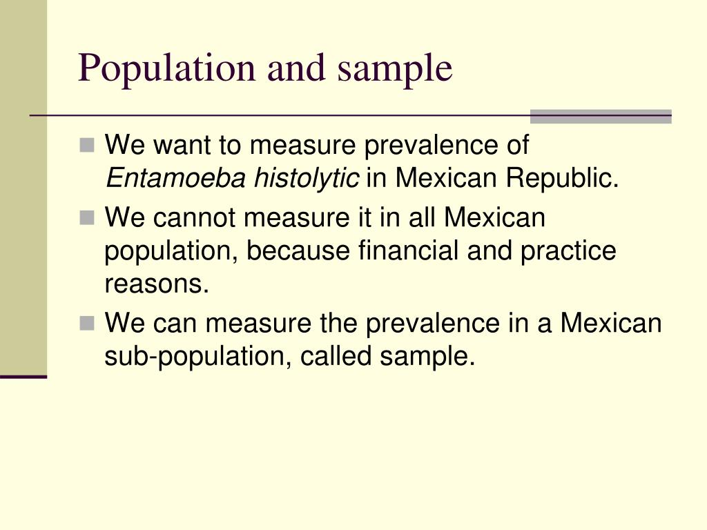 """population and sampling Help with populations and samples when we think of the term """"population,"""" we  usually think of people in our town, region, state or country and their respective."""