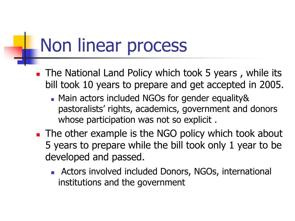 Non linear process