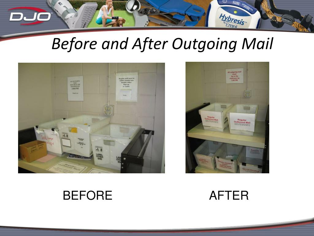 Before and After Outgoing Mail