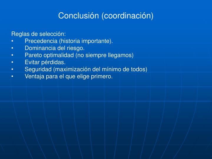 Conclusión (coordinación)