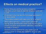 effects on medical practice