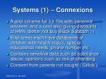 systems 1 connexions
