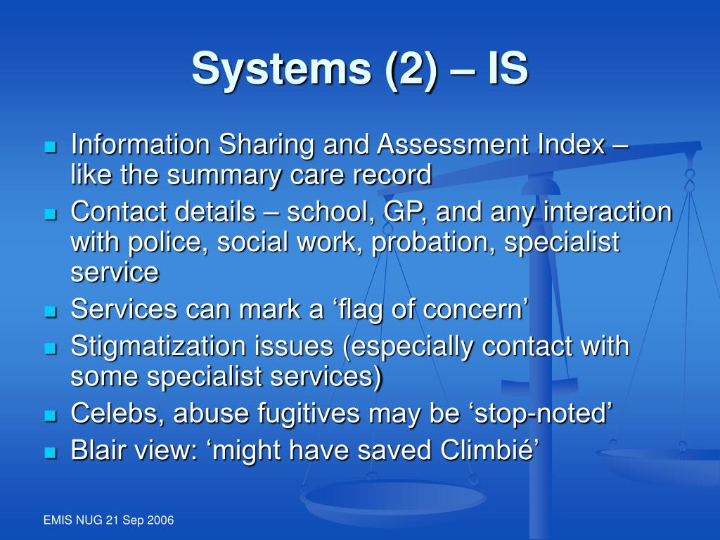 Systems (2) – IS