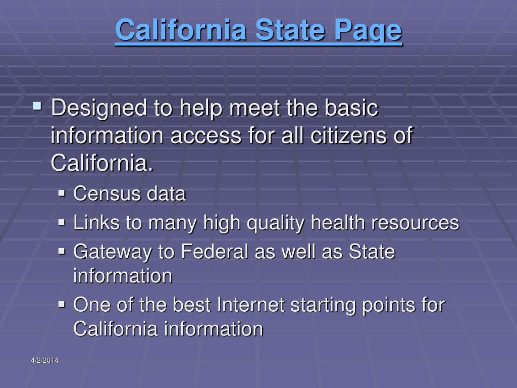 California State Page