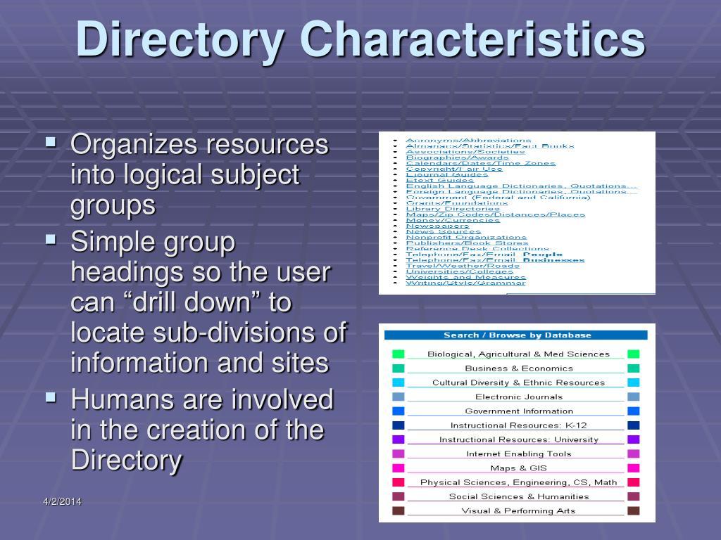 Directory Characteristics