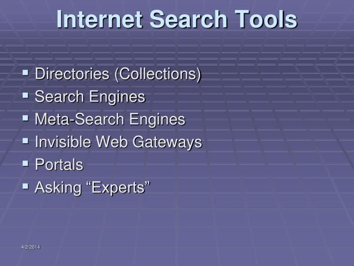 Internet search tools