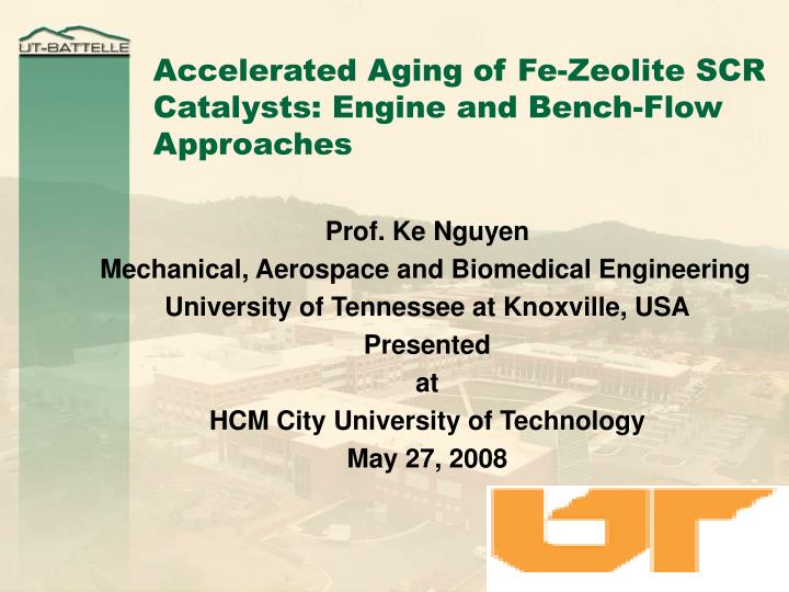 Accelerated aging of fe zeolite scr catalysts engine and bench flow approaches l.jpg