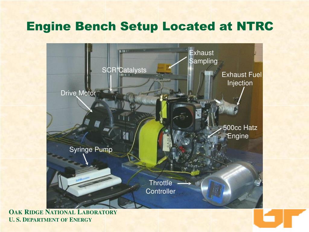 Engine Bench Setup Located at NTRC