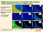 epma elemental maps of fe zeolite scr catalyst engine aged for 31 cycles at 650 c rear