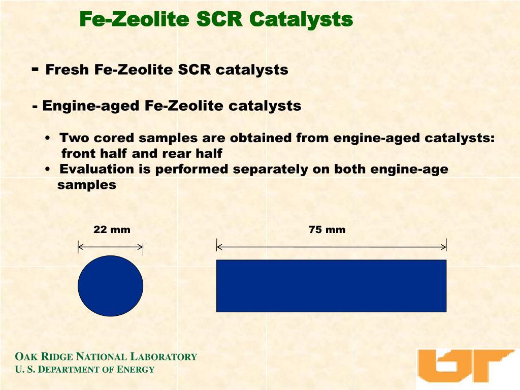 Fe-Zeolite SCR Catalysts