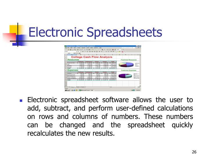 Electronic Spreadsheets