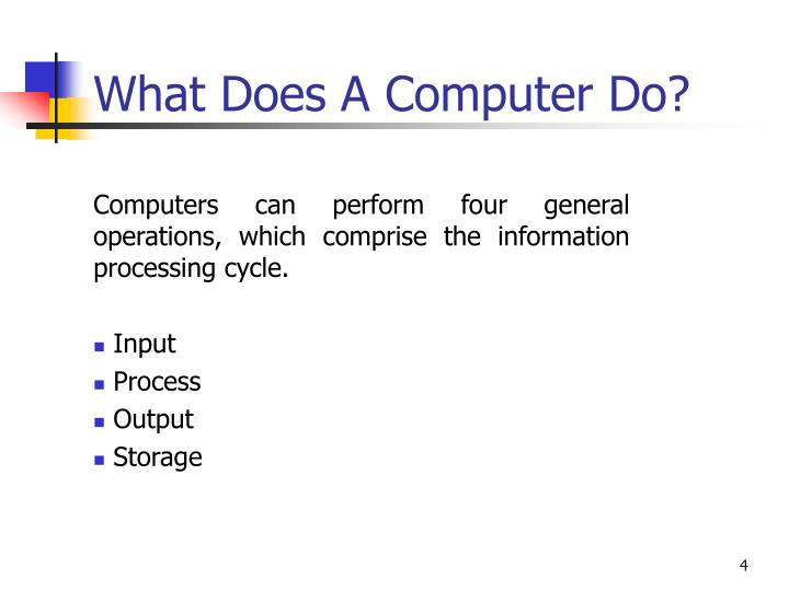 What Does A Computer Do?