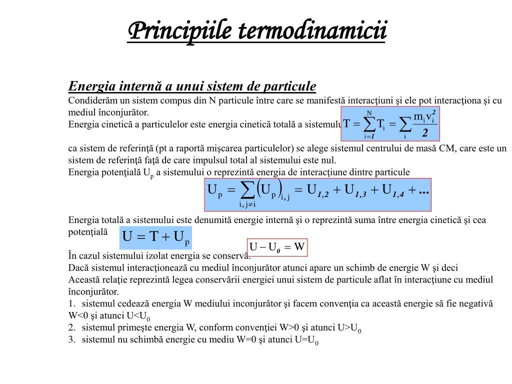 Principiile termodinamicii