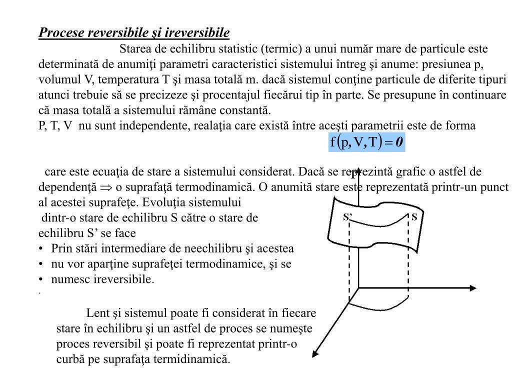 Procese reversibile şi ireversibile