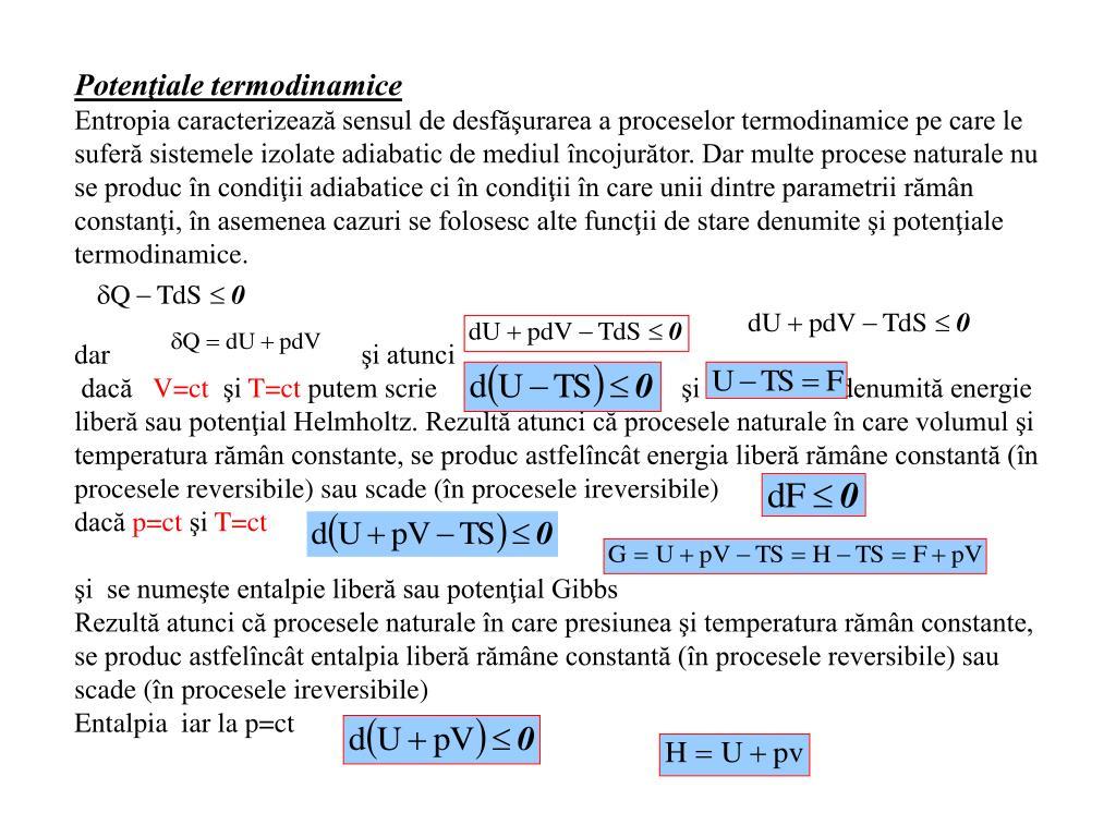 Potenţiale termodinamice