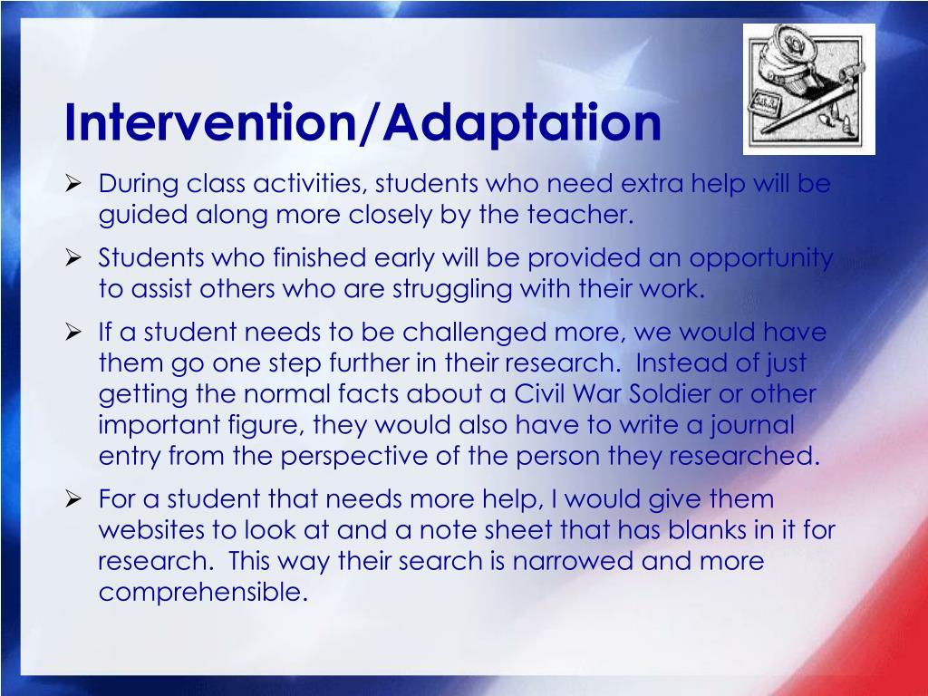 Intervention/Adaptation
