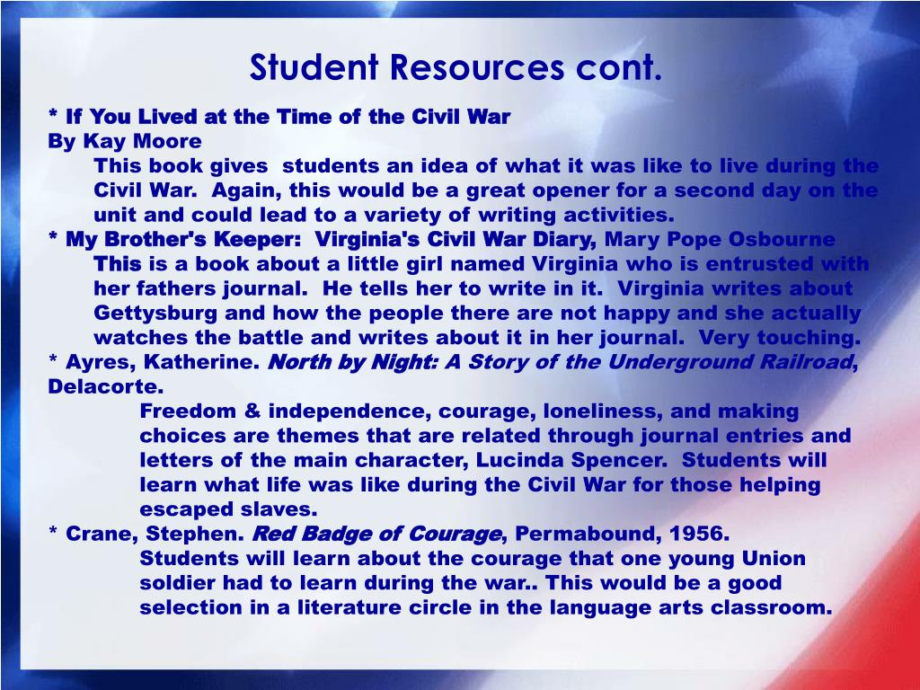 Student Resources cont.