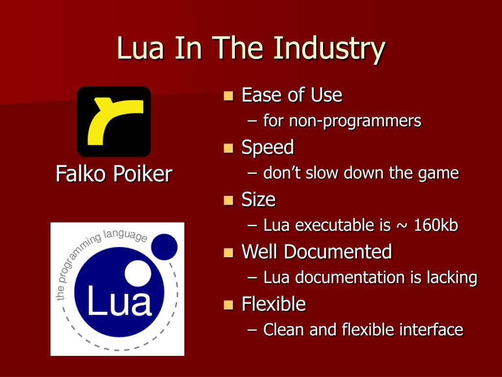 Lua In The Industry