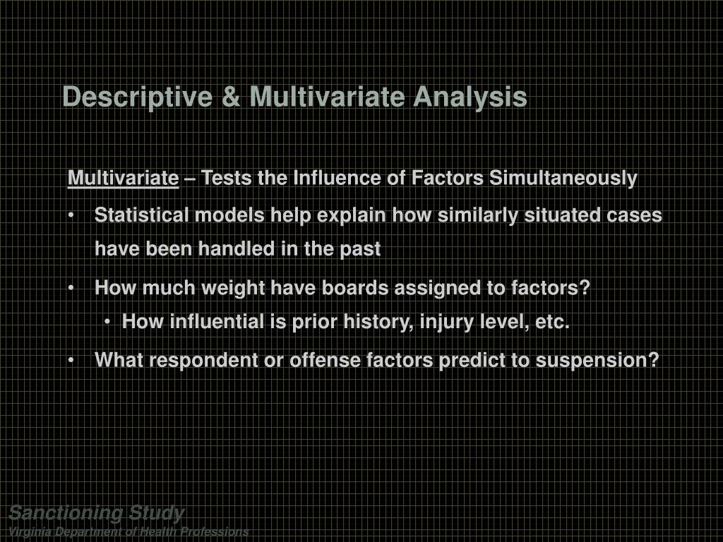 Descriptive & Multivariate Analysis