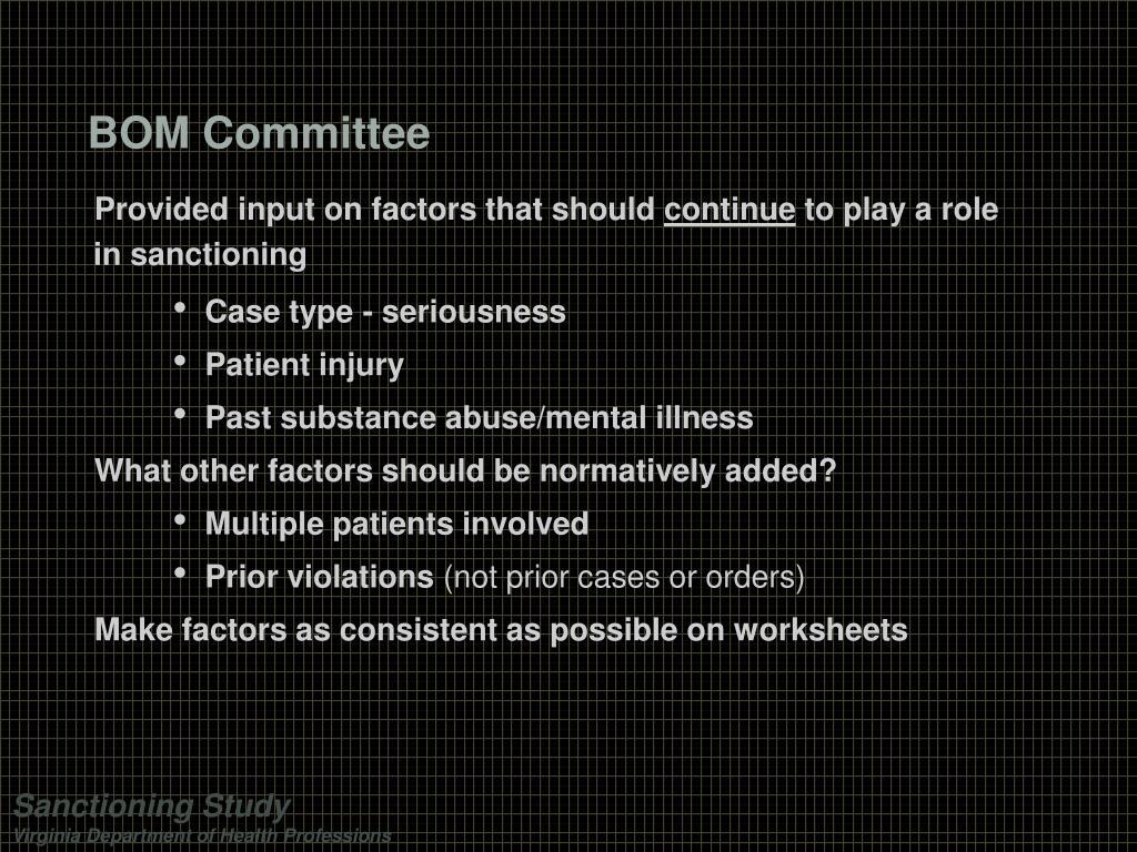 BOM Committee