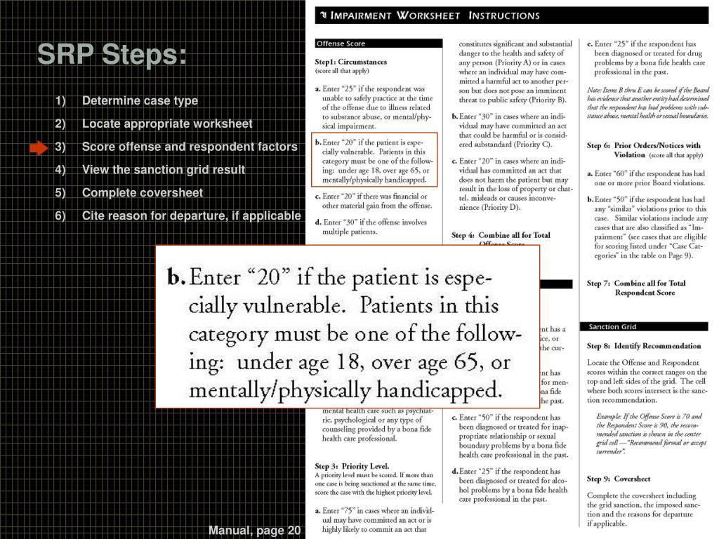 SRP Steps: